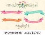 romantic retro flower banners...