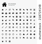 universal pixel perfect icons | Shutterstock .eps vector #218724148