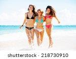group of friends having fun... | Shutterstock . vector #218730910