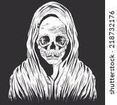 zombie | Shutterstock .eps vector #218732176