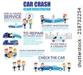 insurance car crash  cartoon... | Shutterstock .eps vector #218732254