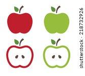 illustration of apples .vector | Shutterstock .eps vector #218732926