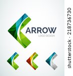 abstract arrow logo design made ... | Shutterstock .eps vector #218736730