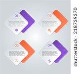 infographics template for... | Shutterstock .eps vector #218739370