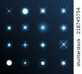 light glow flare stars effect... | Shutterstock .eps vector #218745754
