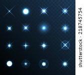 Light Glow Flare Stars Effect...