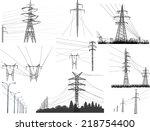 illustration with electric... | Shutterstock .eps vector #218754400