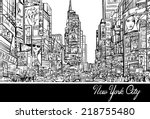 interpretation of times square...   Shutterstock .eps vector #218755480