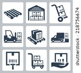 warehouse related vector icons...