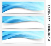 blue light line headers footers ... | Shutterstock .eps vector #218756986