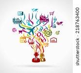 logistics | Shutterstock .eps vector #218763400