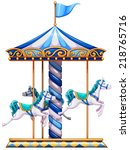 Illustration Of A Merry Go...