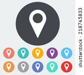 map pointer. single flat icon... | Shutterstock .eps vector #218765833