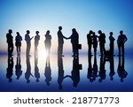 group of business people in... | Shutterstock . vector #218771773
