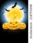 background for halloween party... | Shutterstock . vector #218791048