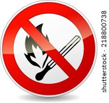 vector illustration of no flame ...