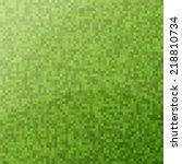 green clean modern pixel... | Shutterstock .eps vector #218810734