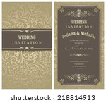 wedding invitation cards ... | Shutterstock .eps vector #218814913
