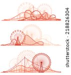 set vector horizontal lines of... | Shutterstock .eps vector #218826304