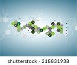 dna molecule structure... | Shutterstock .eps vector #218831938