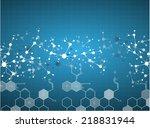 dna molecule structure... | Shutterstock .eps vector #218831944