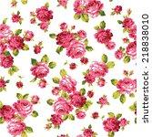 pattern of rose  | Shutterstock .eps vector #218838010