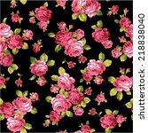 pattern of rose  | Shutterstock .eps vector #218838040
