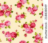 pattern of rose  | Shutterstock .eps vector #218838049