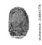 black isolated fingerprint on... | Shutterstock . vector #218841778