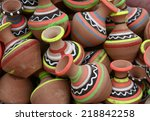 colorful pottery  | Shutterstock . vector #218842258
