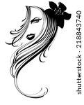 beautiful artistic vector... | Shutterstock .eps vector #218843740