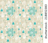 seamless christmas pattern.... | Shutterstock .eps vector #218852383