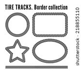 tire tracks frame set. vector... | Shutterstock .eps vector #218855110