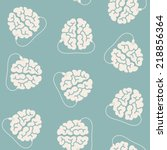seamless background  brain  usb ... | Shutterstock .eps vector #218856364