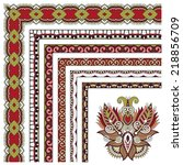 floral vintage frame design.... | Shutterstock . vector #218856709