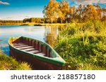 Old Wooden Fishing Boat In...