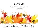 Watercolor Vector Autumn...