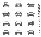 car icons set. | Shutterstock .eps vector #218858203