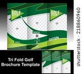 tri fold golf brochure template ... | Shutterstock .eps vector #218860960