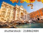 Fountain Di Trevi In Rome  Italy