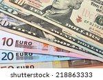 Fanned Out Banknotes Of Euros...