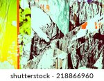 old posters grunge textures and ... | Shutterstock . vector #218866960