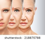 beauty concept skin aging. anti ... | Shutterstock . vector #218870788