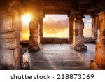 ancient temple with columns at... | Shutterstock . vector #218873569