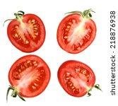juicy tomatoes | Shutterstock . vector #218876938
