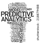 word cloud with predictive... | Shutterstock . vector #218879488