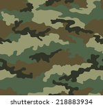 camouflage seamless pattern.... | Shutterstock .eps vector #218883934