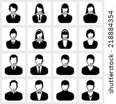 users icon vector black on... | Shutterstock .eps vector #218884354