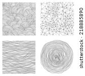 set with hand drawn abstract... | Shutterstock .eps vector #218885890