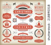 christmas decoration vector... | Shutterstock .eps vector #218890318